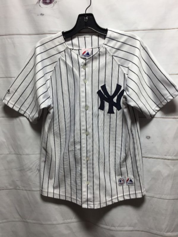 product details: NEW YORK YANKEES JETER #2 MLB BASEBALL JERSEY photo