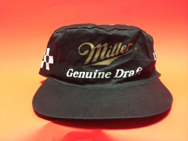 product details: MGD/MILLER GENUINE DRAFT LOGO & NASCAR RACING CHECKERED FLAG SIDE DESIGN PAINTERS STYLE HAT photo