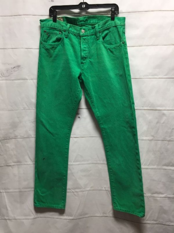 product details: POLO BRAND 100% COTTON BRIGHT GREEN DENIM PANTS photo