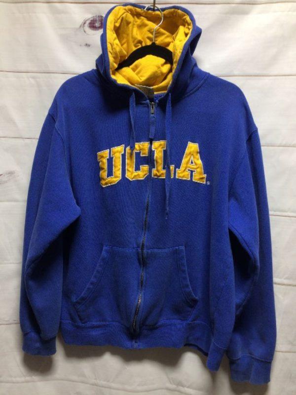 product details: UCLA ZIP-UP HOODIE SWEATSHIRT photo