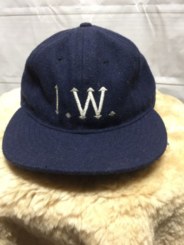 product details: WOOL HAT I.W. EMBROIDERY SATIN UNDER BILL photo