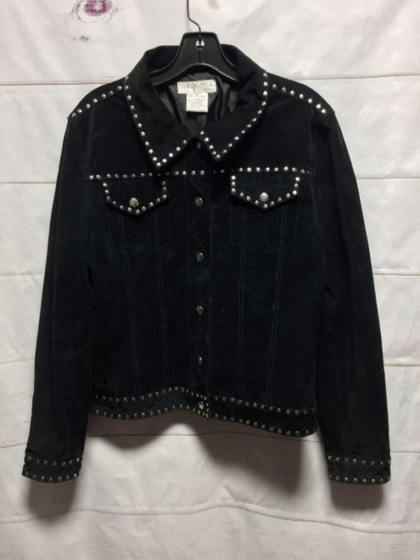 product details: 1990'S SUEDE LEATHER JACKET W/ SILVER STUDS photo