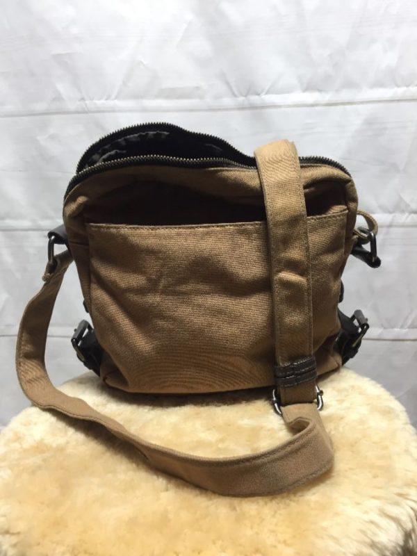 product details: MINI SIZED CANVAS SIDE SATCHEL MESSENGER BAG photo