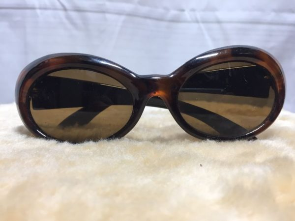 product details: 1990'S GUNMAX SUNGLASSES W/ OVAL SHAPED & TORTOISE SHELL PATTERNED FRAMES photo