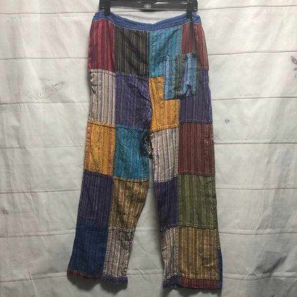 product details: FUNKY 1990S MULTICOLORED PATCHWORK PANTS photo