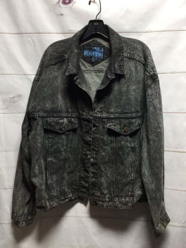 product details: VINTAGE 1990'S ACID WASH DENIM JACKET photo