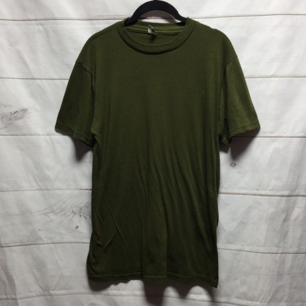 product details: BASIC MILITARY GREEN PLAIN TEE T- SHIRT SOFTY #PERFECT photo