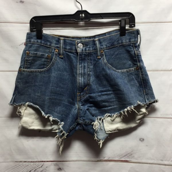 product details: LEVIS DENIM CUTOFF SHORT SHORTS PERFECT COLOR PERFECT FRAY photo