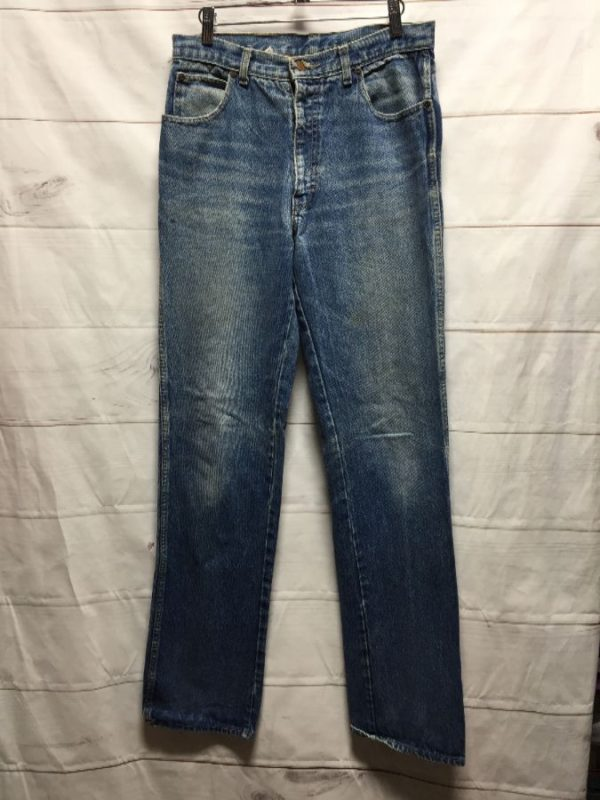 product details: DISTRESSED VINTAGE STRAIGHT LEG JEANS- AS IS photo