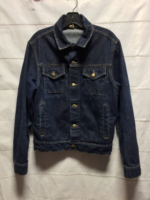product details: AMERICAN APPAREL DENIM JACKET DARK WASH - AS IS photo