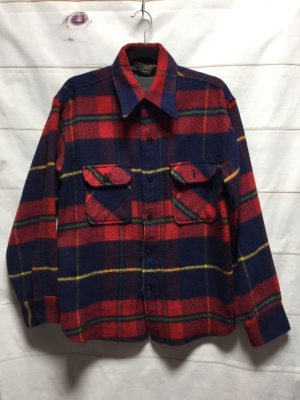 product details: CLASSIC RETRO 1960S-80S LUMBERJACK LONG SLEEVE FLANNEL SHIRT - AS IS photo