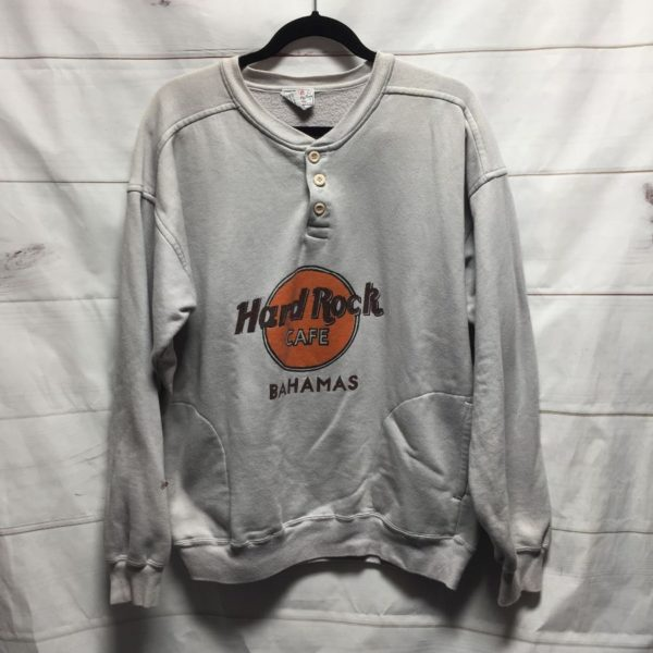 product details: HARD ROCK CAFE BAHAMAS BUTTON DOWN SWEATSHIRT - AS IS photo