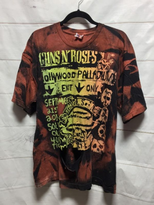 product details: GUNS N ROSES TIE DYE T SHIRT DISTRESSED - AS IS photo