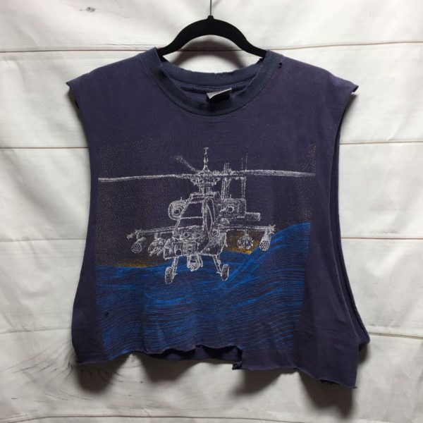 product details: RAD AH -64 APACHE CROPPED TSHIRT - AS IS photo