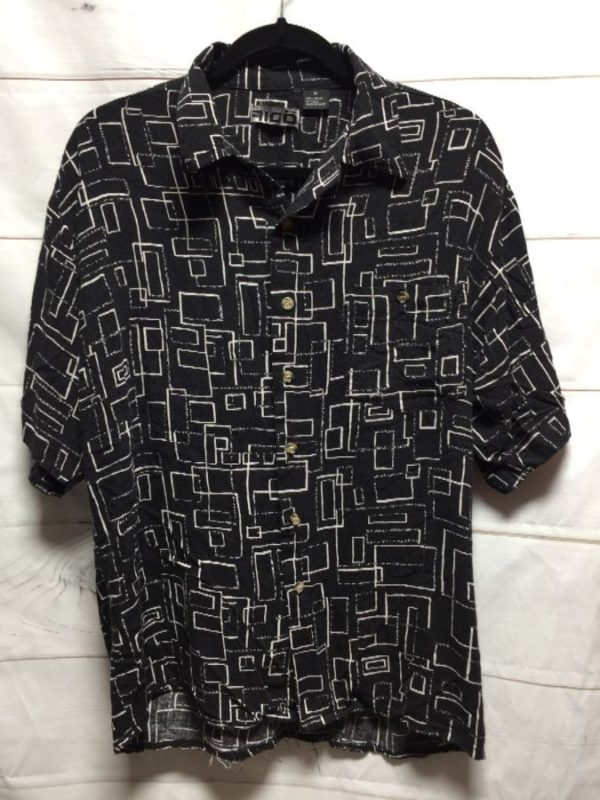 product details: AIGO GEOMETRIC PRINT BUTTON UP photo