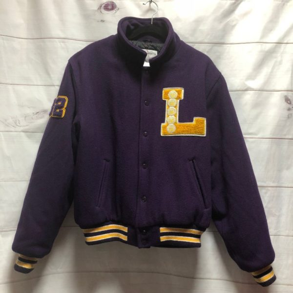 product details: LOS ANGELES LAKERS VARSITY LETTERMAN JACKET #32 photo