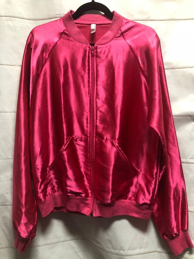 COURREGES Hot Pink Quilted Satin Jacket