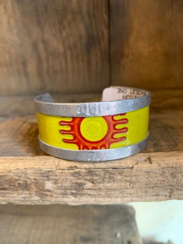 product details: HAND CRAFTED METAL LICENCE PLATE CUFF BRACELET photo