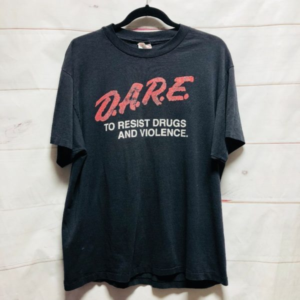 product details: D.A.R.E TO RESISIT DRUGS AND VIOLENCE DISTRESSED GRAPHIC TSHIRT DARE- AS IS photo