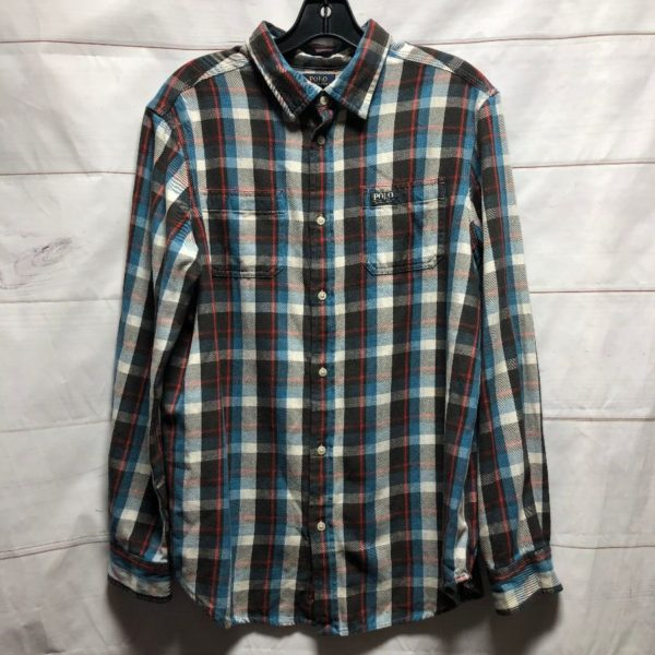 product details: POLO BRAND LONG SLEEVE FLANNEL SHIRT WITH 1990S COLORED PLAID photo