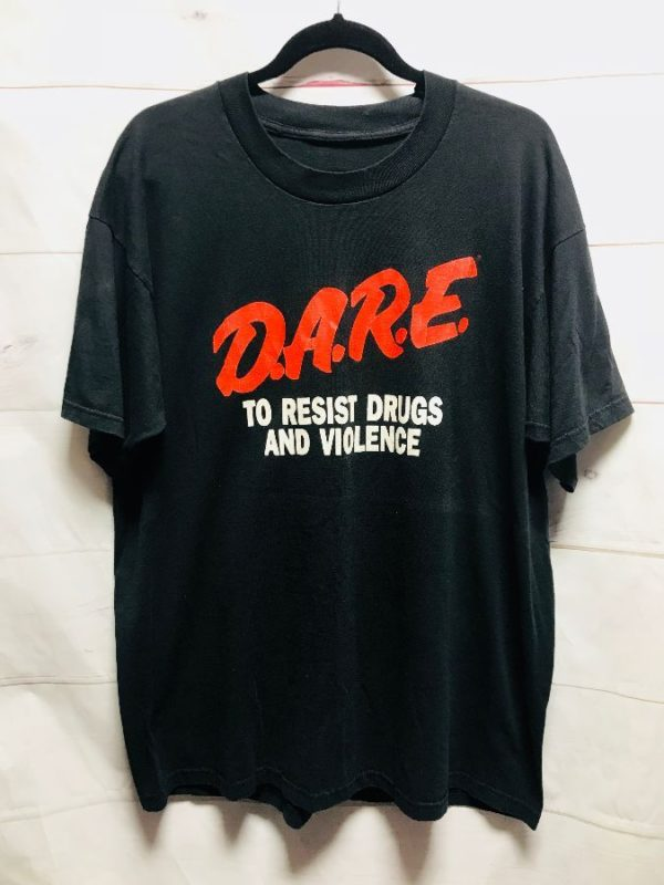 product details: CLASSIC DARE SHIRT SOFTY D.A.R.E. TO RESIST DRUGS & VIOLENCE - AS IS photo