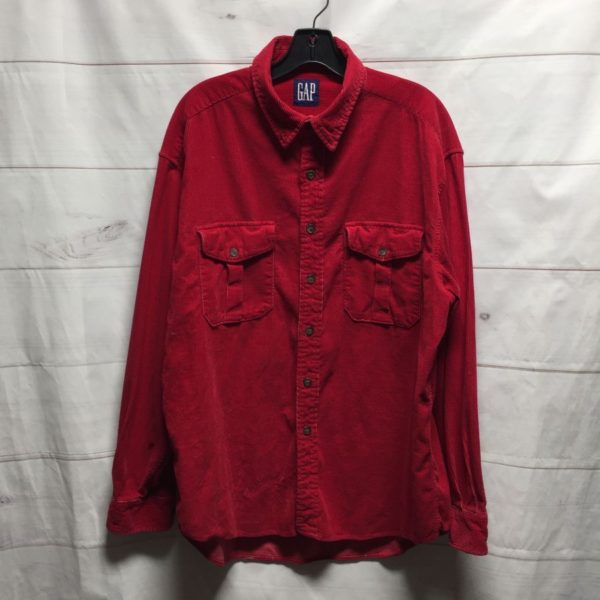 product details: LONG SLEEVE CORDUROY BUTTON UP SHIRT photo