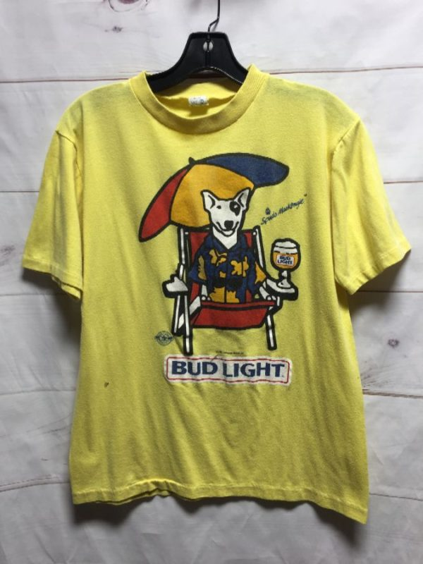 product details: BUD LIGHT SPUDS MCKENZIE 50/50 SOFTY POLY TSHIRT photo