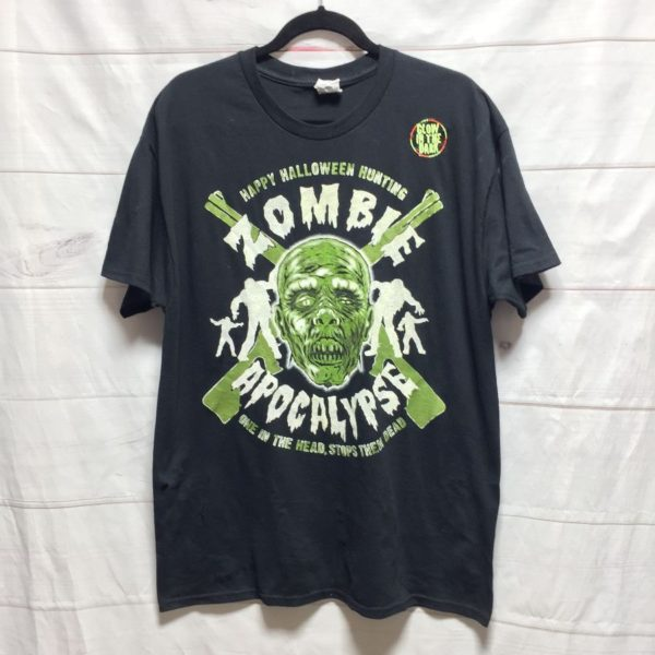 product details: HALLOWEEN ZOMBIE APOCALYPSE GLOW IN THE DARK T SHIRT - AS IS photo