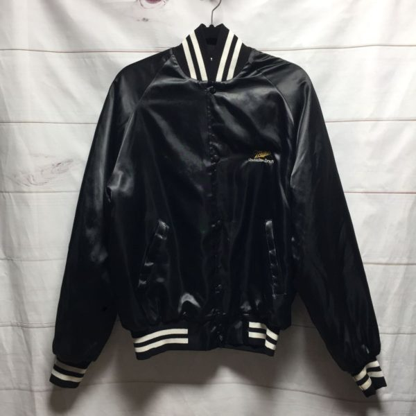 product details: MILLER GENUINE DRAFT SATIN BASEBALL JACKET photo