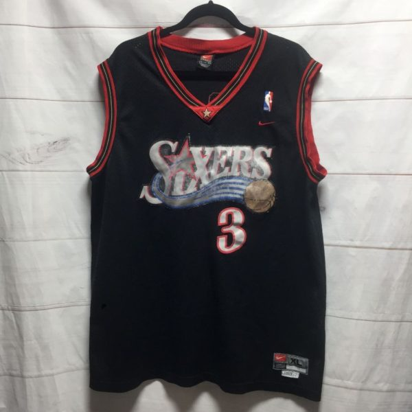 product details: NBA PHILADELPHIA SIXERS #3 IVERSON BASKETBALL JERSEY photo