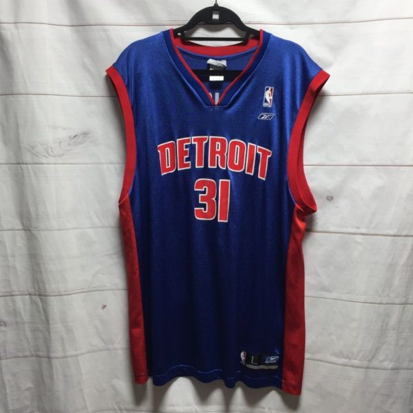 product details: NBA DETROIT PISTONS MILICIC #31 BASKETBALL JERSEY photo