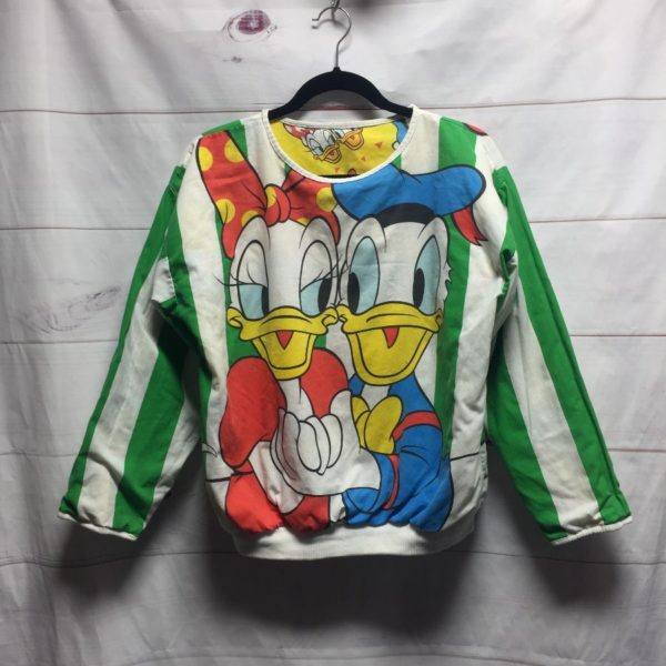 product details: REVERSIBLE SWEATSHIRT DONALD DUCK AND DAISY DUCK SMALL FIT- AS IS photo