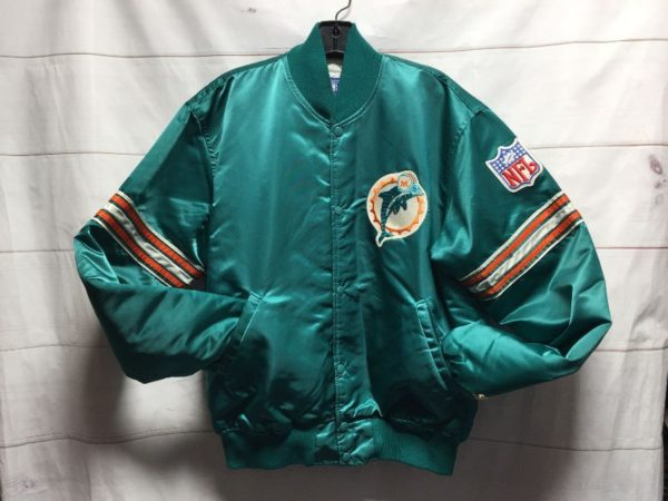 product details: NFL MIAMI DOLPHINS SATIN STARTER JACKET photo
