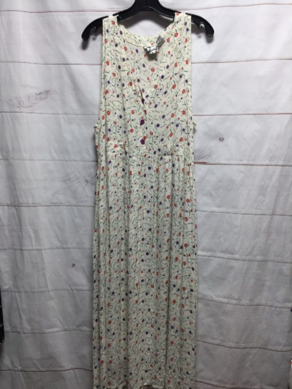 product details: SLEEVELESS FLORAL RAYON DAY DRESS W POCKETS photo