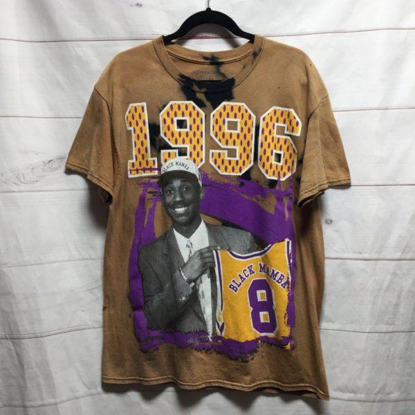 product details: TSHIRT 1996 KOBE #8 BLACK MAMBA BLEACHED TIE DYE - AS IS photo