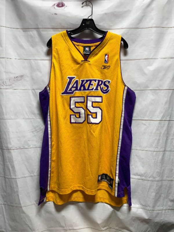product details: NBA LOS ANGELES LAKERS BASKETBALL JERSEY #55 GRANT photo