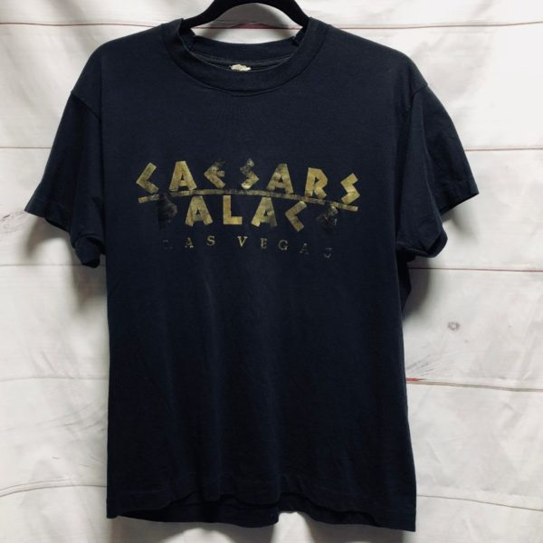 product details: CLASSIC CAESARS PALACE METALLIC PRINT SINGLE STITCHED VINTAGE TEE SOFT BOXY FIT - AS IS photo