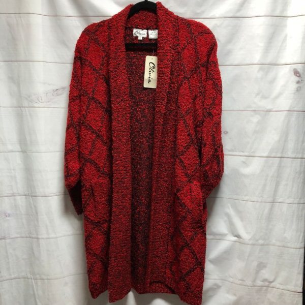 product details: DEADSTOCK 1980S HEAVY KNIT COCOON OPEN CARDIGAN SWEATER NWT photo