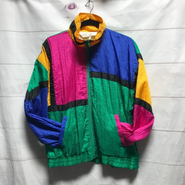 product details: RAD COLOR BLOCK WINDBREAKER ZIP UP JACKET photo