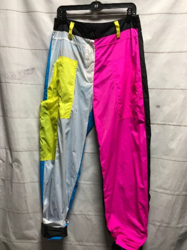product details: 80S INSPIRED MULTI COLORED WINDBREAKER PANTS photo
