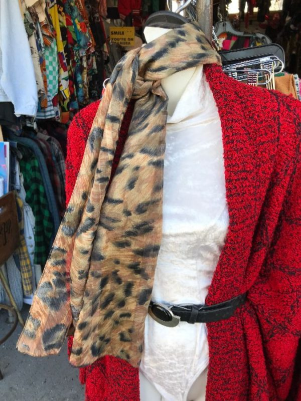 product details: LONG ANIMAL PRINT SILK SCARF photo
