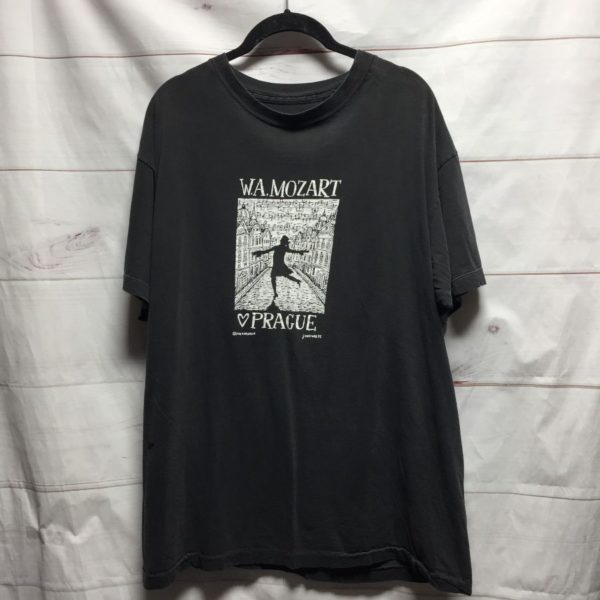 product details: FADED BLACK TSHIRT W.A. MOZART PRAGUE - AS IS photo