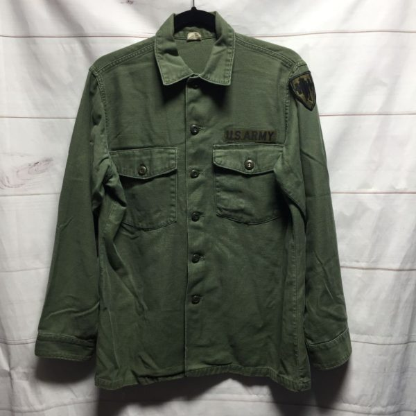 product details: SUPER NICE US ARMY LONG SLEEVE MILITARY 100% COTTON BUTTON UP SHIRT photo