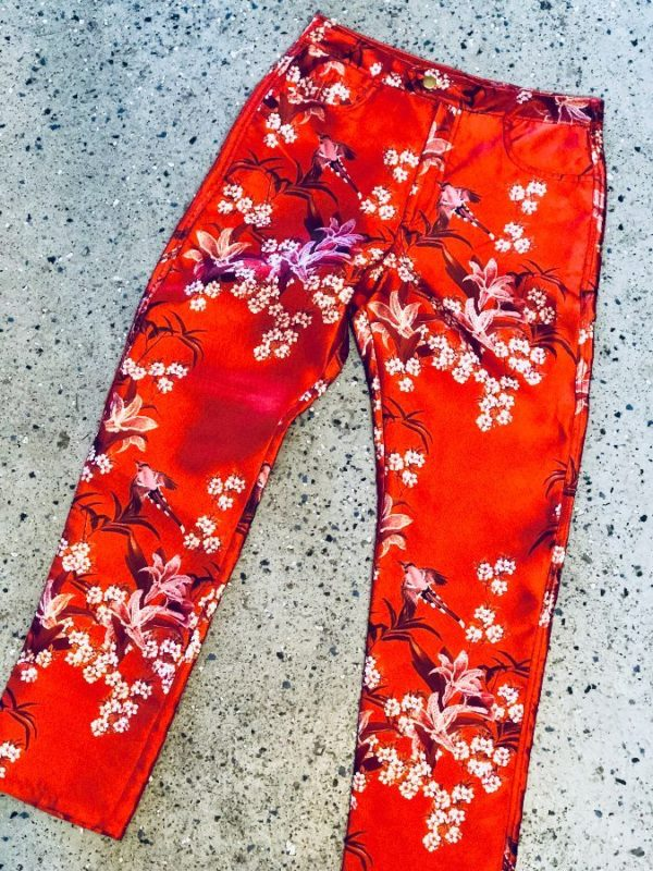 product details: SILK CHINTZ FLORAL HIGH WAIST RELAXED PANT photo