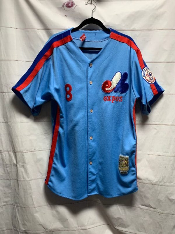 product details: MLB MONTREAL EXPOS BASEBALL JERSEY #8 CARTER photo