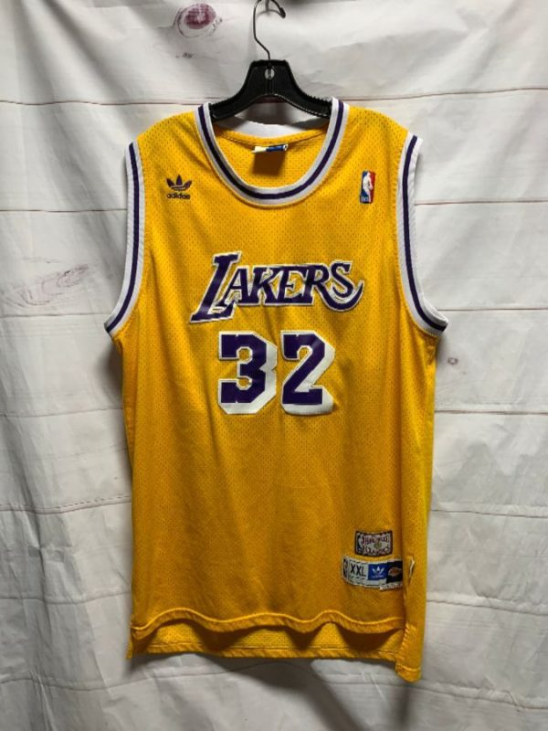 product details: NBA LOS ANGELES LAKERS BASKETBALL JERSEY #32 MAGIC JOHNSON photo