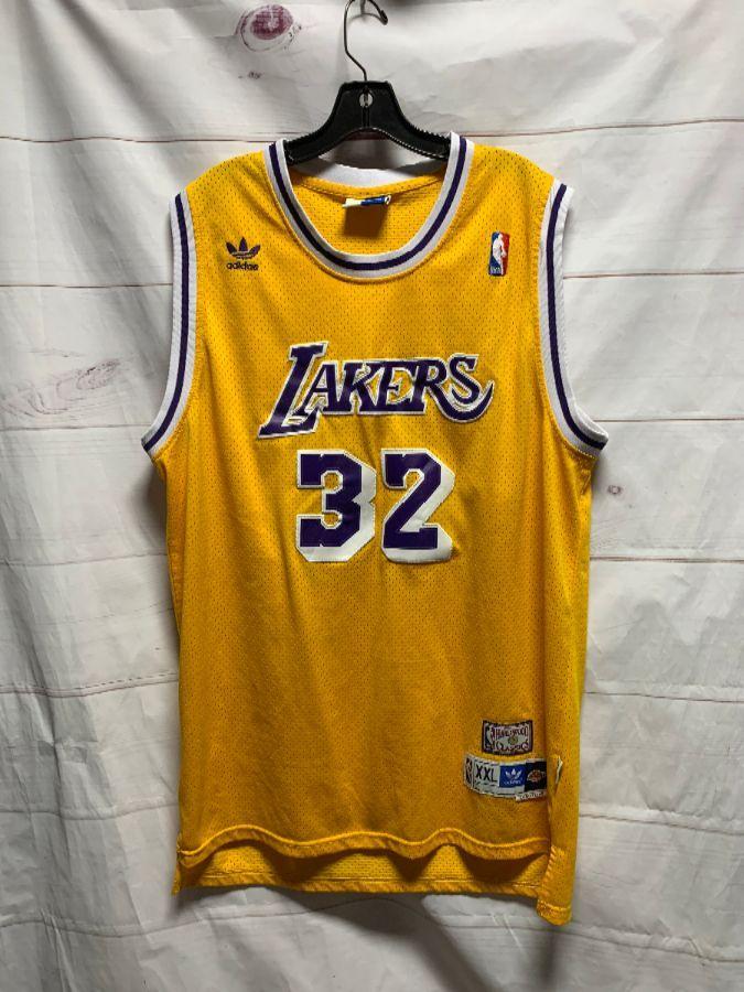 NBA LOS ANGELES LAKERS BASKETBALL JERSEY #32 MAGIC JOHNSON ...
