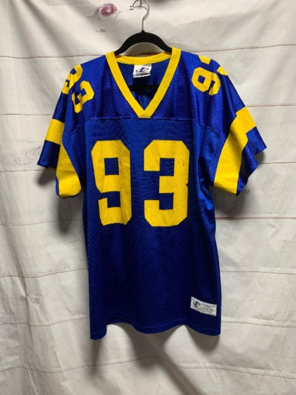 product details: NFL LOS ANGELES RAMS FOOTBALL JERSEY #93 CARTER photo
