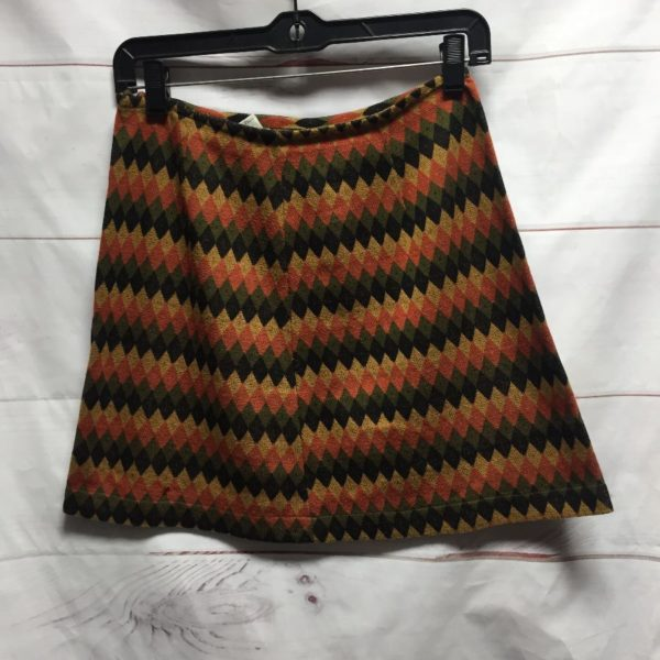 product details: RAD 1990S KNITTED MINI A-LINE SKIRT WITH FUNKY DIAMOND PRINT #MISSONI photo