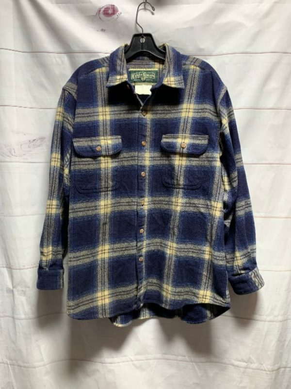 product details: NICE & THICK PLAID PRINT BRUSHED FLANNEL SHIRT SUPER SOFT photo